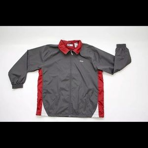 Men's Fila Windbreaker Zip Up Jacket